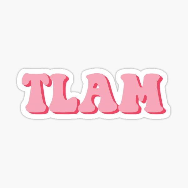 TLAM Retro Pink Sticker