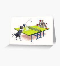 Chinchilla Ping Pong Greeting Card