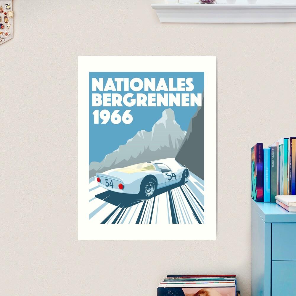 1960s Alpine Hillclimb poster Art Print
