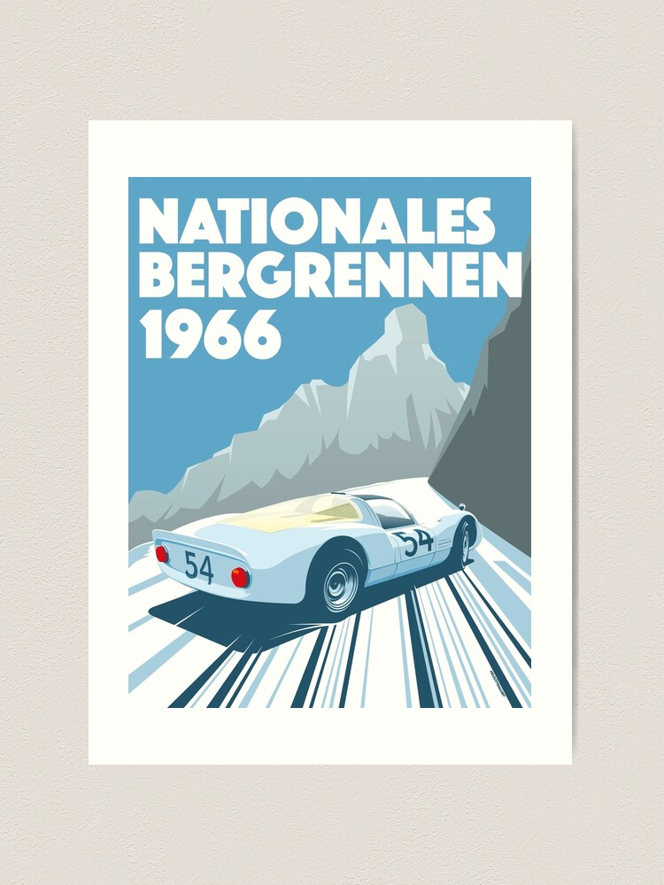 Alternate view of 1960s Alpine Hillclimb poster Art Print