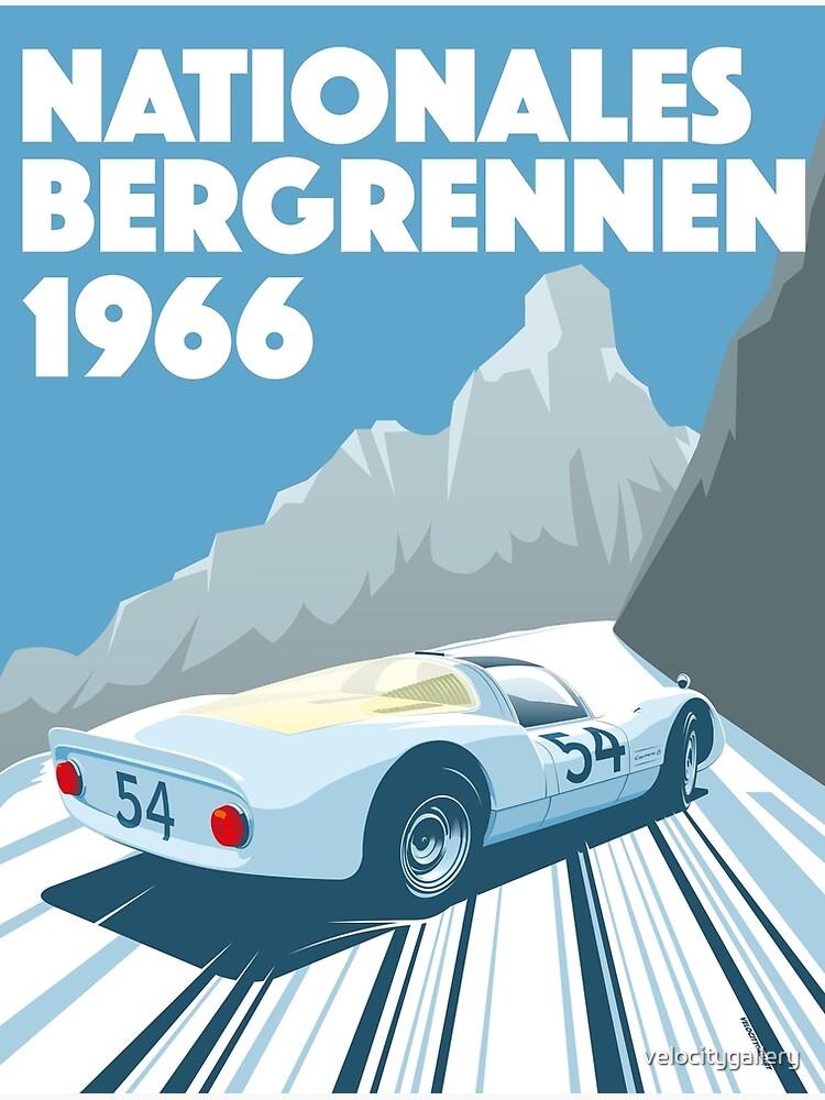 1960s Alpine Hillclimb poster by velocitygallery