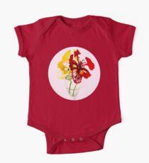 Summer Flower Short Sleeve Baby One-Piece