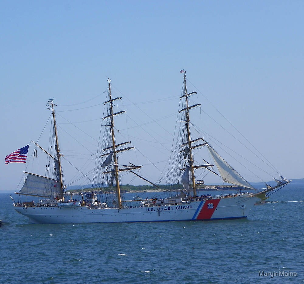 "US Coast Guard - Tall Ship ""Eagle"" by MaryinMaine"