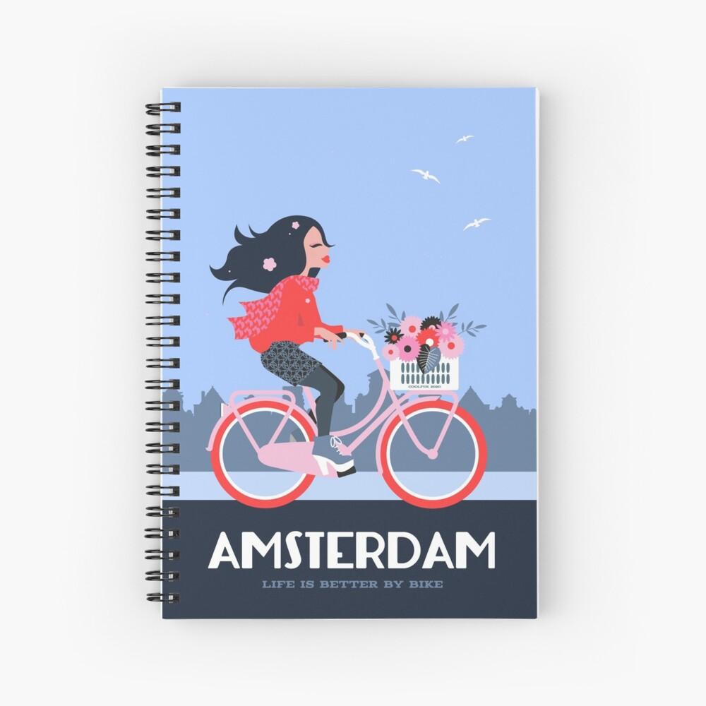 Amsterdam Bike Life Spiral Notebook