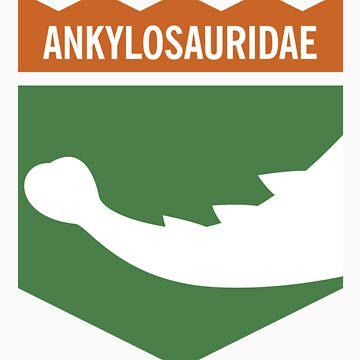 Dinosaur Family Crest: Ankylosauridae by anatotitan