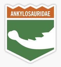 Dinosaur Family Crest: Ankylosauridae Sticker