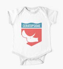 Dinosaur Family Crest: Ceratopsidae One Piece - Short Sleeve