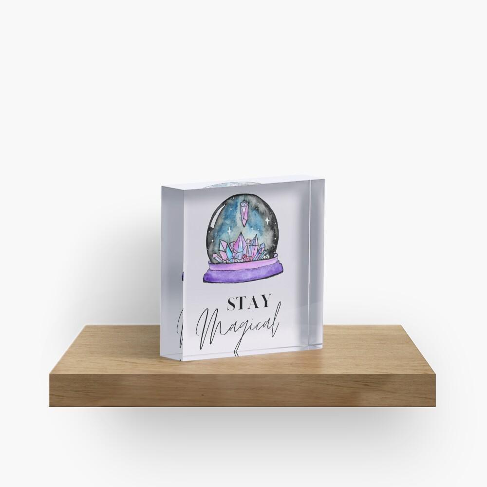 Crystal Ball Magic Acrylic Block