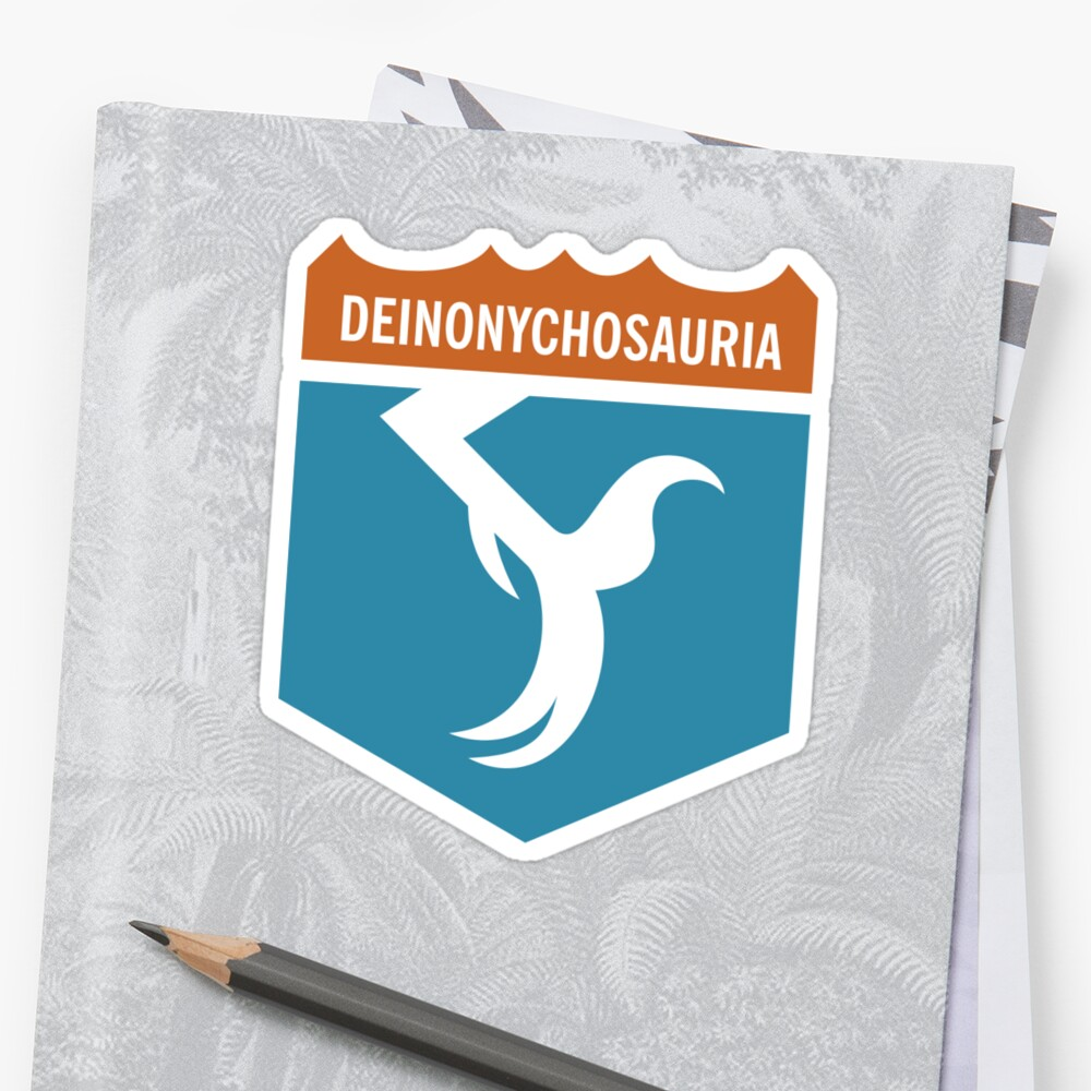 Dinosaur Family Crest: Deinonychosauria by David Orr