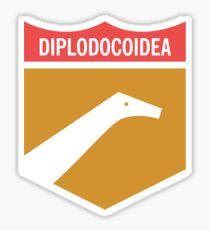 Dinosaur Family Crest: Diplodocoidea Sticker