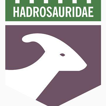 Dinosaur Family Crest: Hadrosauridae by anatotitan