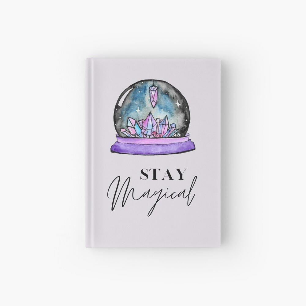 Crystal Ball Magic Hardcover Journal