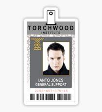 Torchwood Ianto Jones ID Shirt Sticker