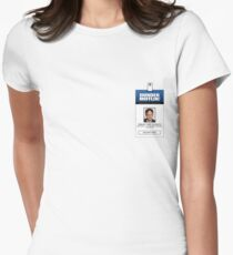 Dwight Schrute The Office ID Badge Shirt Womens Fitted T-Shirt