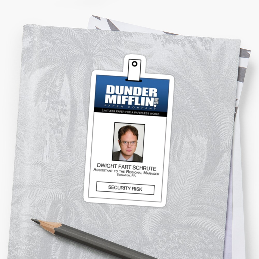 It's just a graphic of Fan Dwight Schrute Id Badge Printable