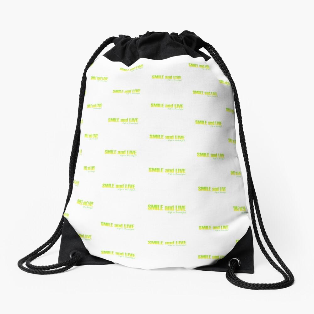Smile and Live Drawstring Bag
