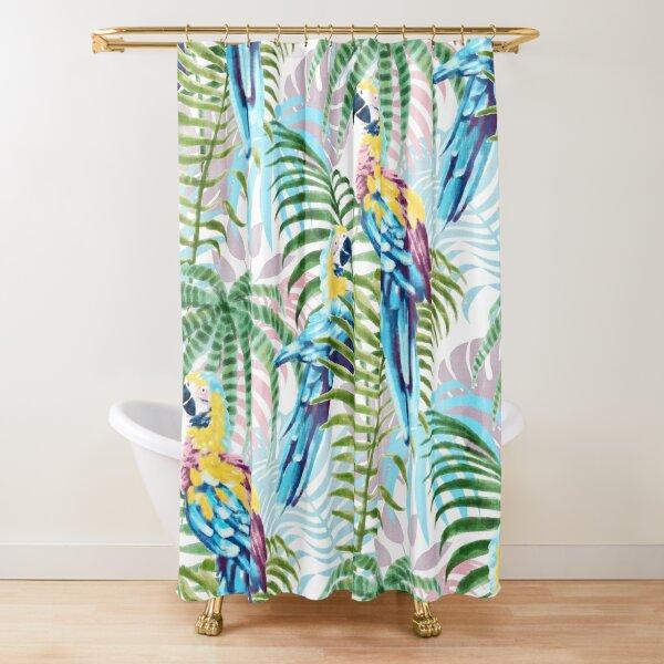 Parrot Jungle print Shower Curtain