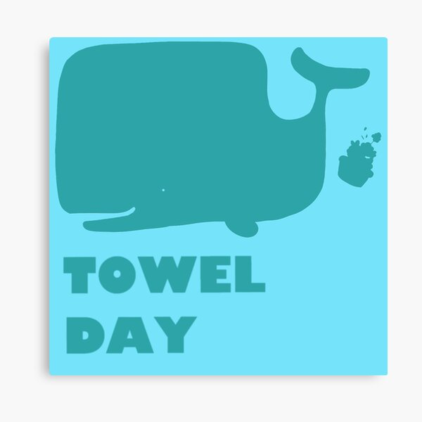 Towel Day Sperm Whale and Petunias Canvas Print