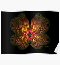 Flame Flower Poster