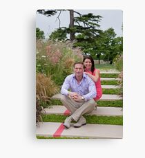 Dr Christian Jessen and Dr Dawn Harper at the RHS Hampton Court Palace flower show 2012. Presenters from the Embarrassing bodies tv programme. Canvas Print
