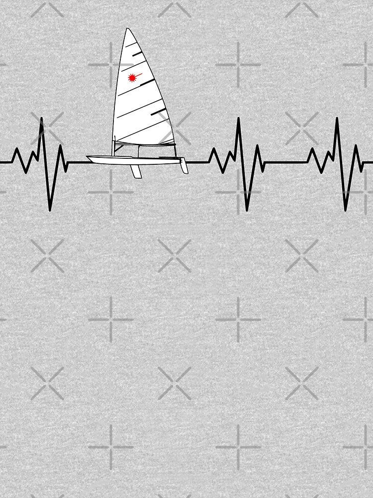 Laser Sailing Heartbeat by Nautical-Merch