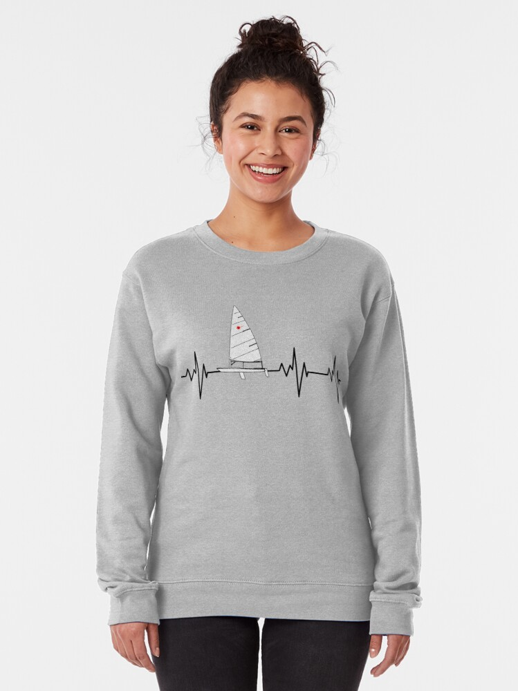 Alternate view of Laser Sailing Heartbeat Pullover Sweatshirt