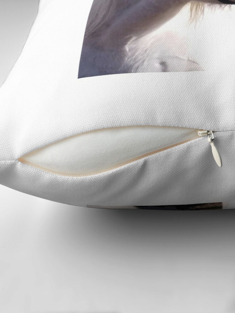 Alternate view of Malibu smiling in the sun Throw Pillow
