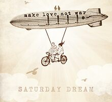 Saturday Dream - Love and Peace Flight by Paula Belle Flores