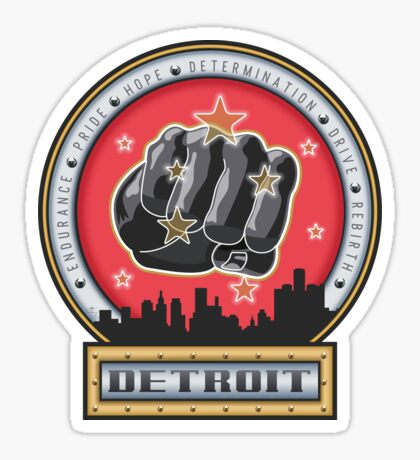 Joe Louis Detroit Pride Power Punch Sticker