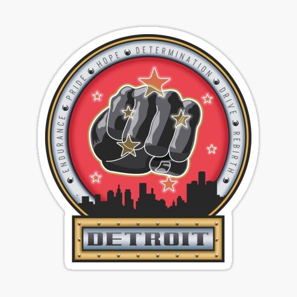 Joe Louis Detroit Pride Power Punch Sticker