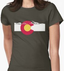 Colorado mountains Womens Fitted T-Shirt