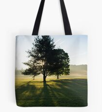 Sun Rise Through the Trees, Cades Cove, Smoky Mountain National Park Tote Bag