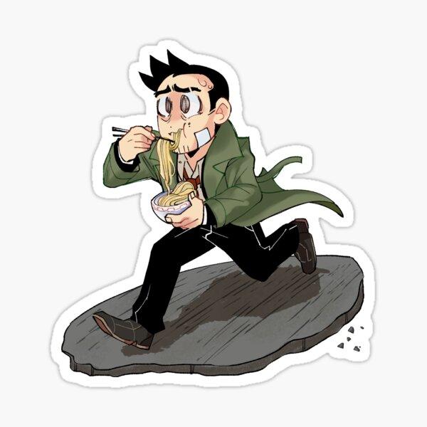 Detective Gumshoe On the Run! Sticker
