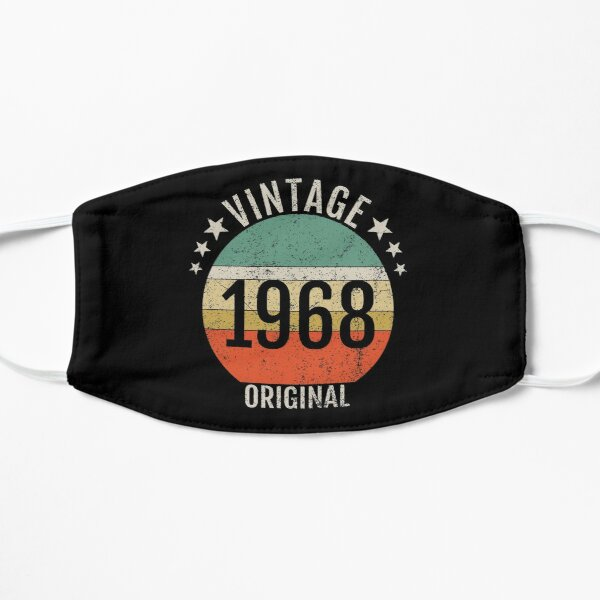 Original Vintage Born in 1968 birth year gift Mask