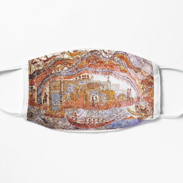Minoan Admirals Flotilla Fresco Thera Scene Mask