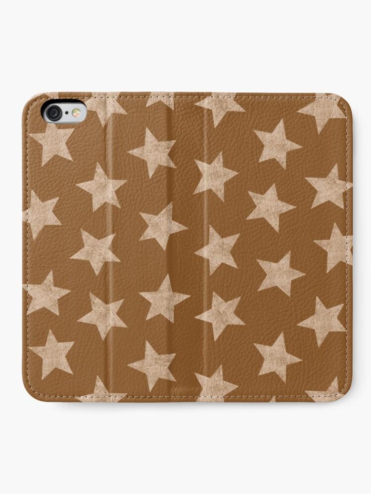Alternate view of Starry brown iPhone Wallet