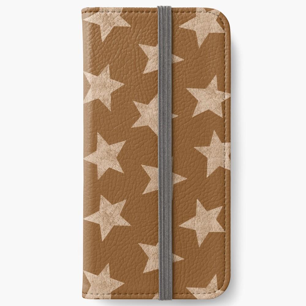 Starry brown iPhone Wallet