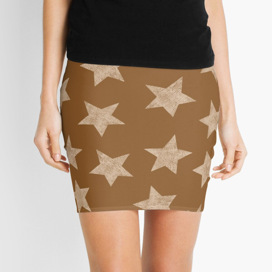 Starry brown Mini Skirt