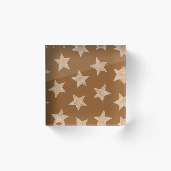 Starry brown Acrylic Block