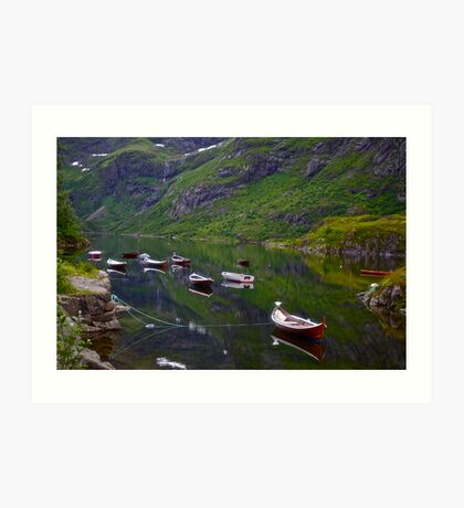 Conquest to Paradise. Visit Lofoten. Å  is one of Norway's most authentic traditional fishing villages. july 2012. by Andy Brown Sugar. Art Print