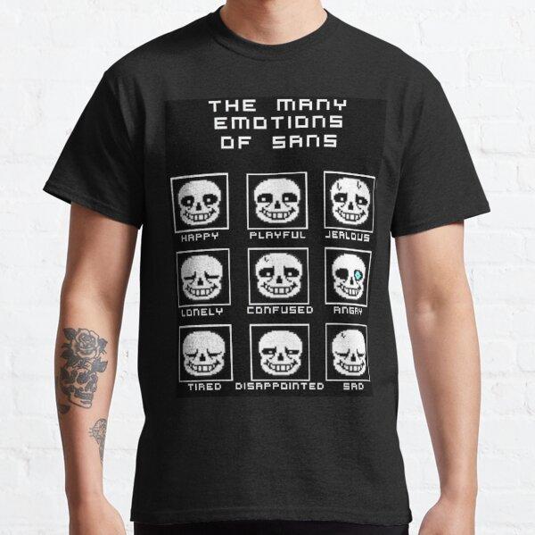 Las muchas emociones de Sans - Undertale Camiseta clásica