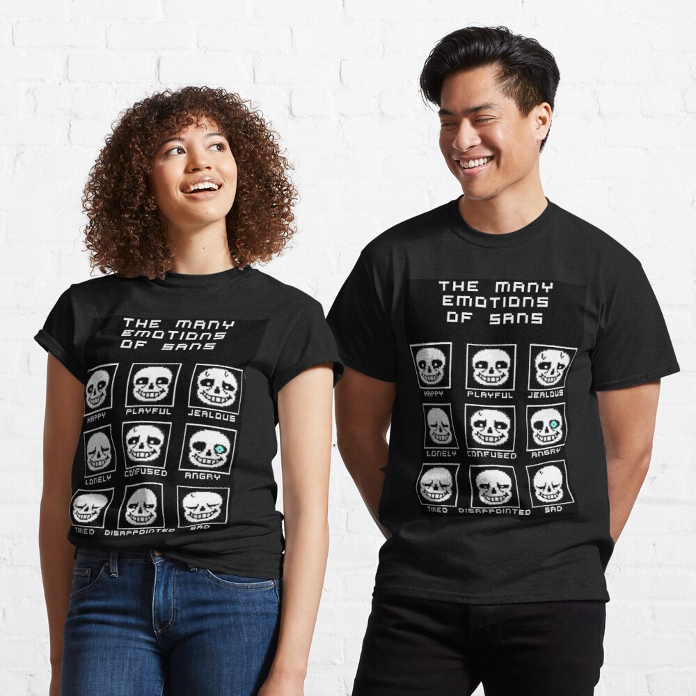 The Many Emotions Of Sans - Undertale Classic T-Shirt