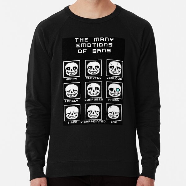 The Many Emotions Of Sans - Undertale Lightweight Sweatshirt
