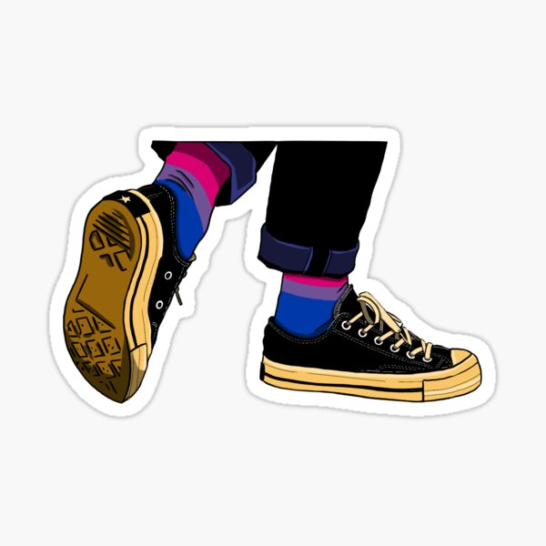 Cuffed Jeans Bisexual Pride Subtle Sticker