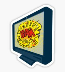 LCD Plasma TV Television Blam Sticker