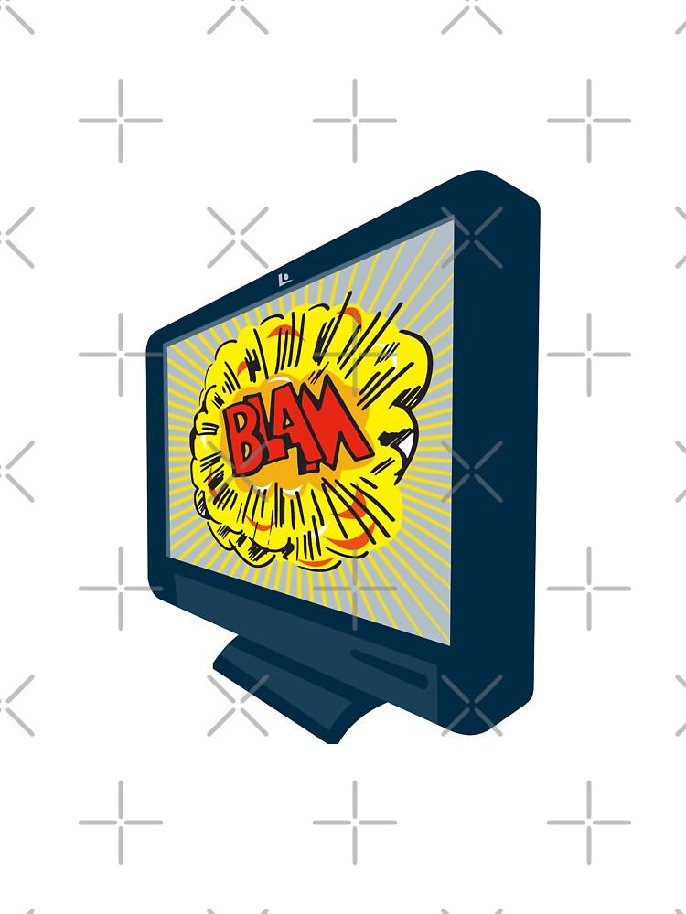 LCD Plasma TV Television Blam by patrimonio