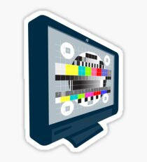 LCD Plasma TV Television Test Pattern Sticker
