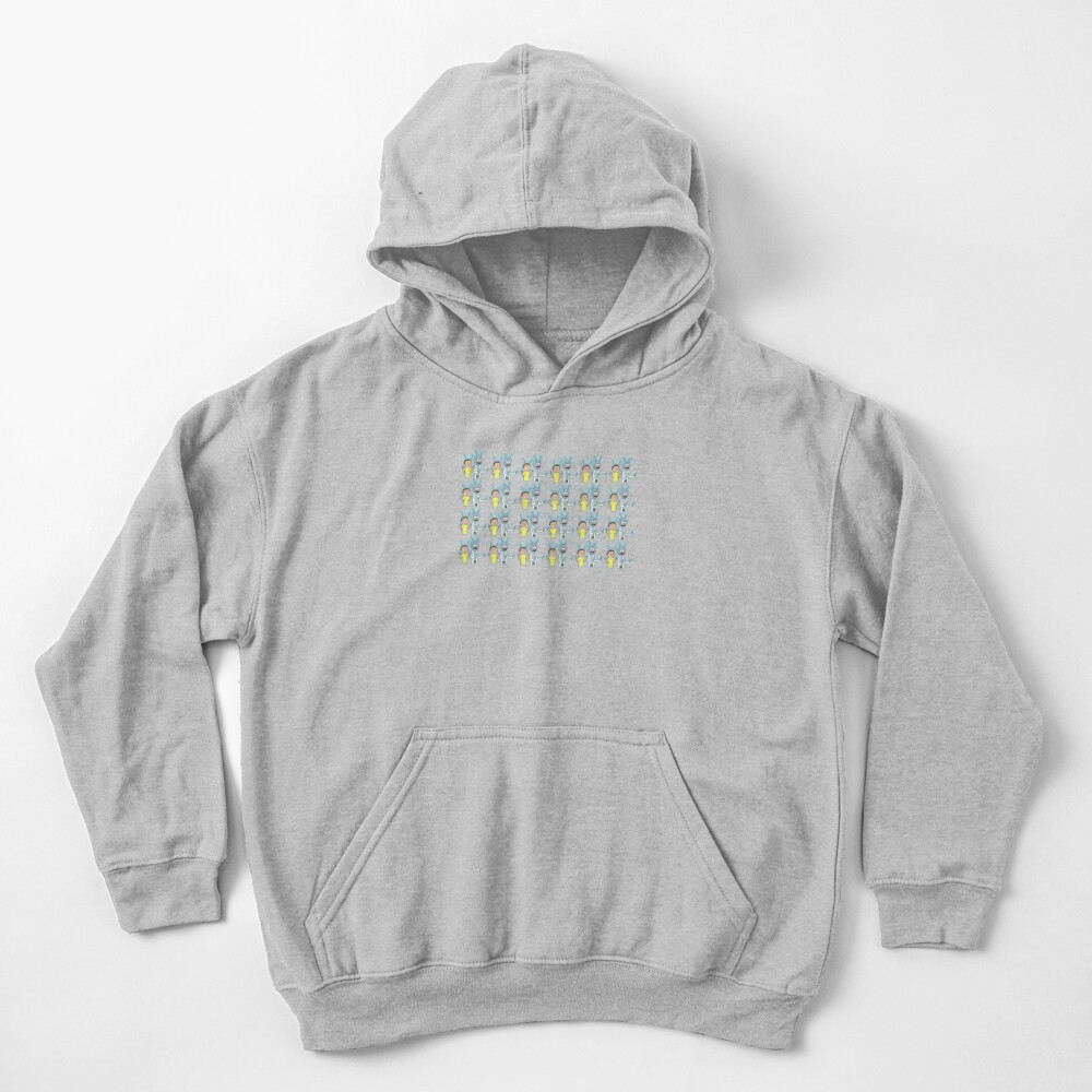 Rick and Morty Pattern Kids Pullover Hoodie