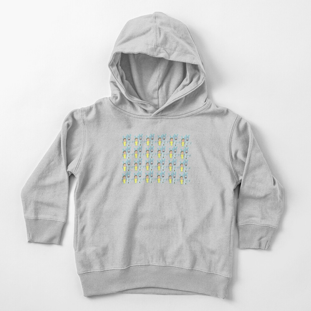 Rick and Morty Pattern Toddler Pullover Hoodie