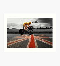 Bradley Wiggins, Tour de France Champion 2012 Art Print